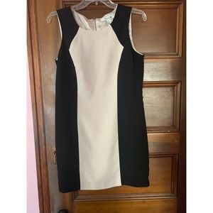 Cream and black sleeveless Forever 21 dress